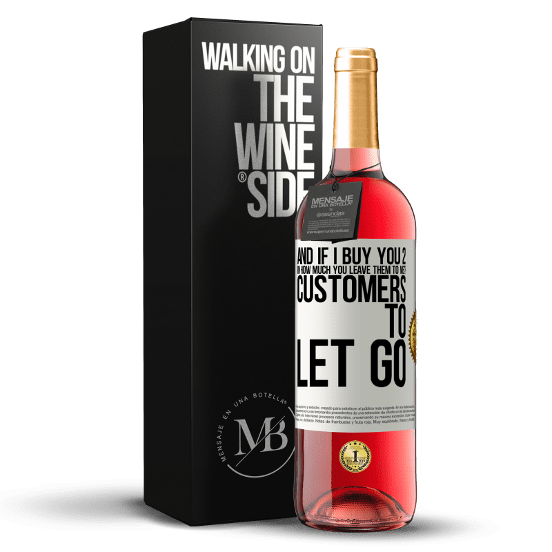 24,95 € Free Shipping | Rosé Wine ROSÉ Edition and if I buy you 2 in how much you leave them to me? Customers to let go White Label. Customizable label Young wine Harvest 2020 Tempranillo