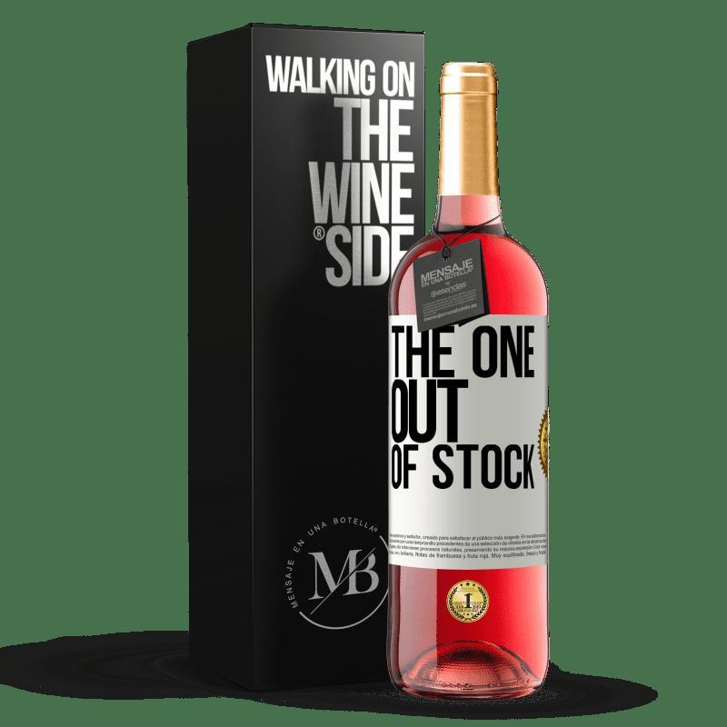 24,95 € Envío gratis | Vino Rosado Edición ROSÉ The one out of stock Etiqueta Blanca. Etiqueta personalizable Vino joven Cosecha 2020 Tempranillo
