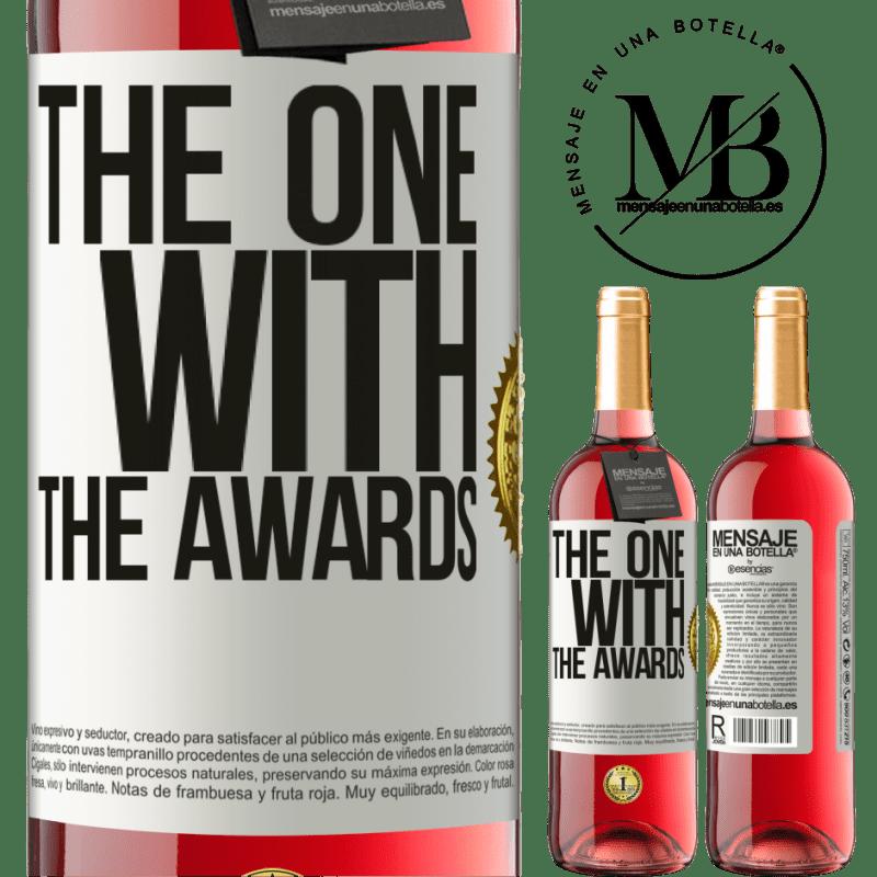 24,95 € Envoi gratuit   Vin rosé Édition ROSÉ The one with the awards Étiquette Blanche. Étiquette personnalisable Vin jeune Récolte 2020 Tempranillo