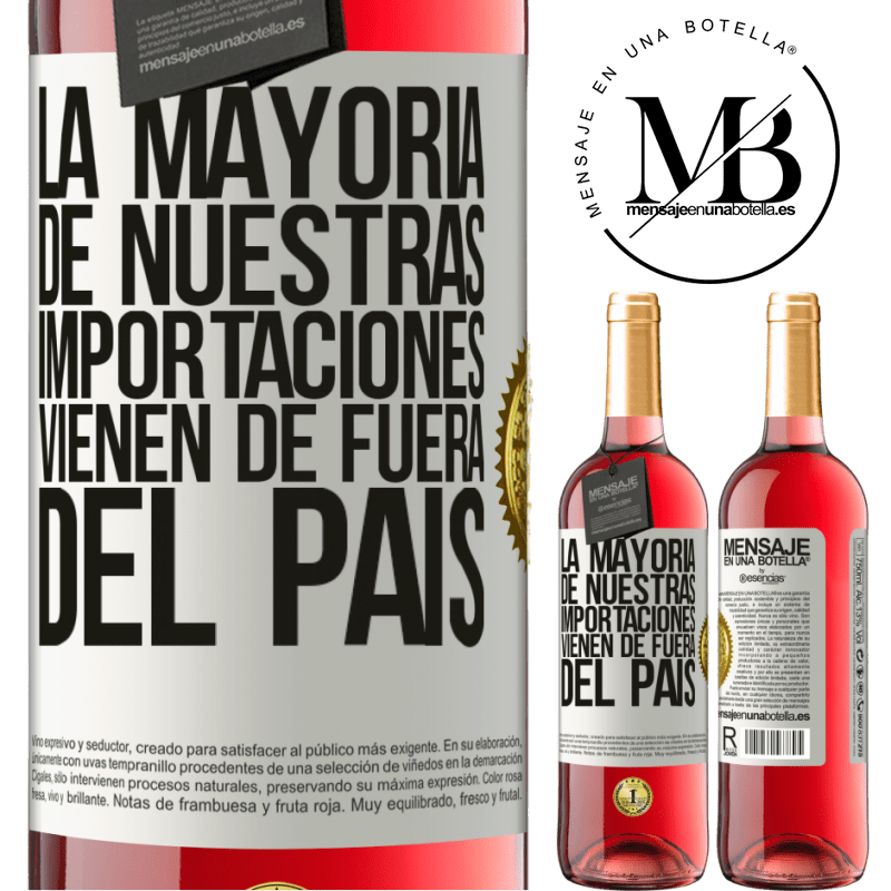 24,95 € Envoi gratuit   Vin rosé Édition ROSÉ La plupart de nos importations proviennent de l'extérieur du pays Étiquette Blanche. Étiquette personnalisable Vin jeune Récolte 2020 Tempranillo