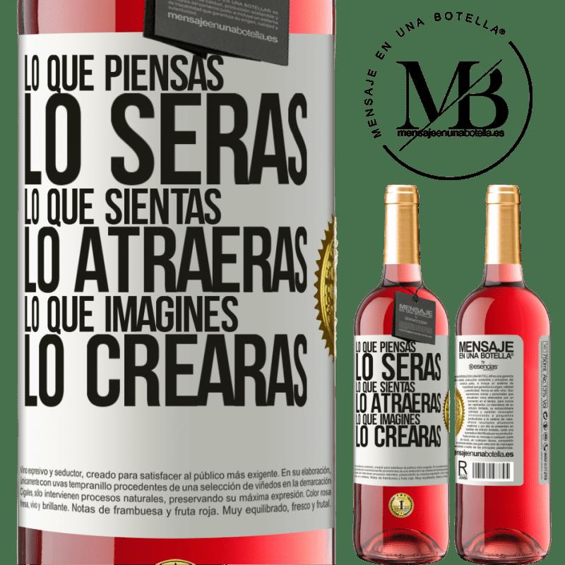 24,95 € Envoi gratuit | Vin rosé Édition ROSÉ Ce que vous pensez être, ce que vous pensez vous attirer, ce que vous imaginez créer Étiquette Blanche. Étiquette personnalisable Vin jeune Récolte 2020 Tempranillo