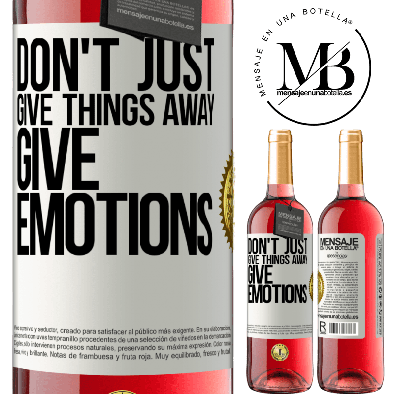 24,95 € Free Shipping | Rosé Wine ROSÉ Edition Don't just give things away, give emotions White Label. Customizable label Young wine Harvest 2020 Tempranillo