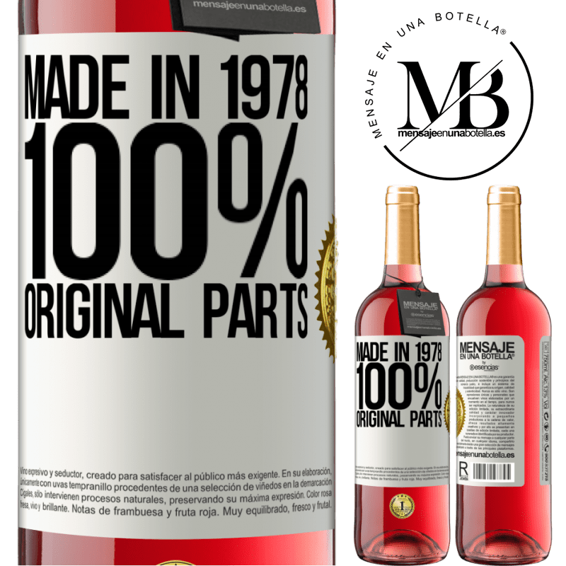 24,95 € Free Shipping | Rosé Wine ROSÉ Edition Made in 1978. 100% original parts White Label. Customizable label Young wine Harvest 2020 Tempranillo