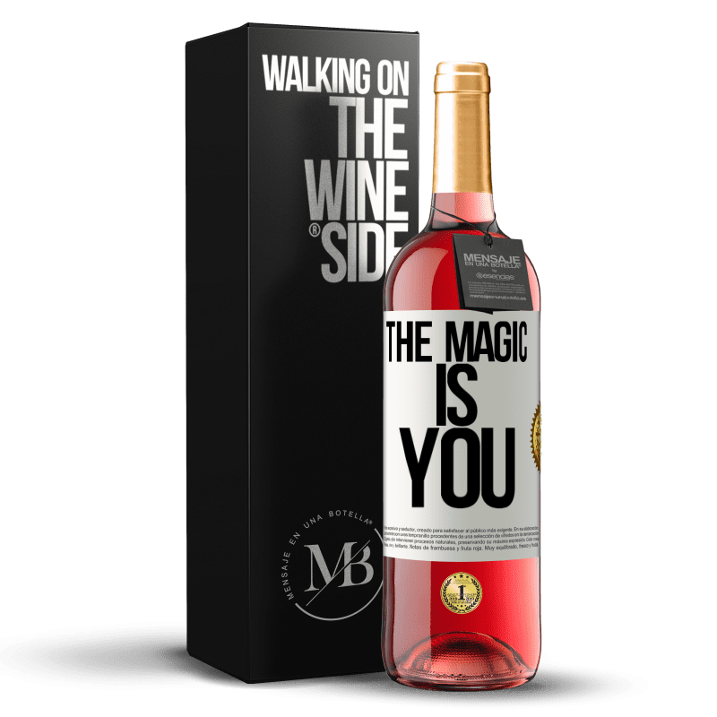 24,95 € Free Shipping | Rosé Wine ROSÉ Edition The magic is you White Label. Customizable label Young wine Harvest 2020 Tempranillo