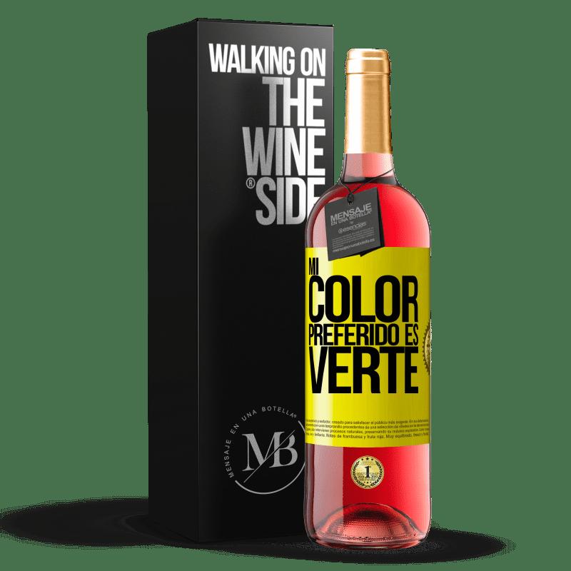 24,95 € Envoi gratuit | Vin rosé Édition ROSÉ Mi color preferido es: verte Étiquette Jaune. Étiquette personnalisable Vin jeune Récolte 2020 Tempranillo