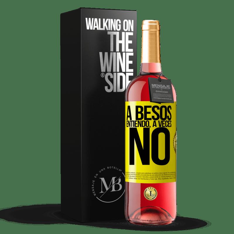 24,95 € Envoi gratuit | Vin rosé Édition ROSÉ A besos entiendo, a veces no Étiquette Jaune. Étiquette personnalisable Vin jeune Récolte 2020 Tempranillo