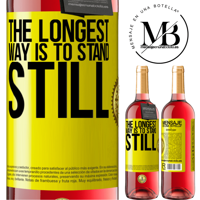 24,95 € Free Shipping   Rosé Wine ROSÉ Edition The longest way is to stand still Yellow Label. Customizable label Young wine Harvest 2020 Tempranillo