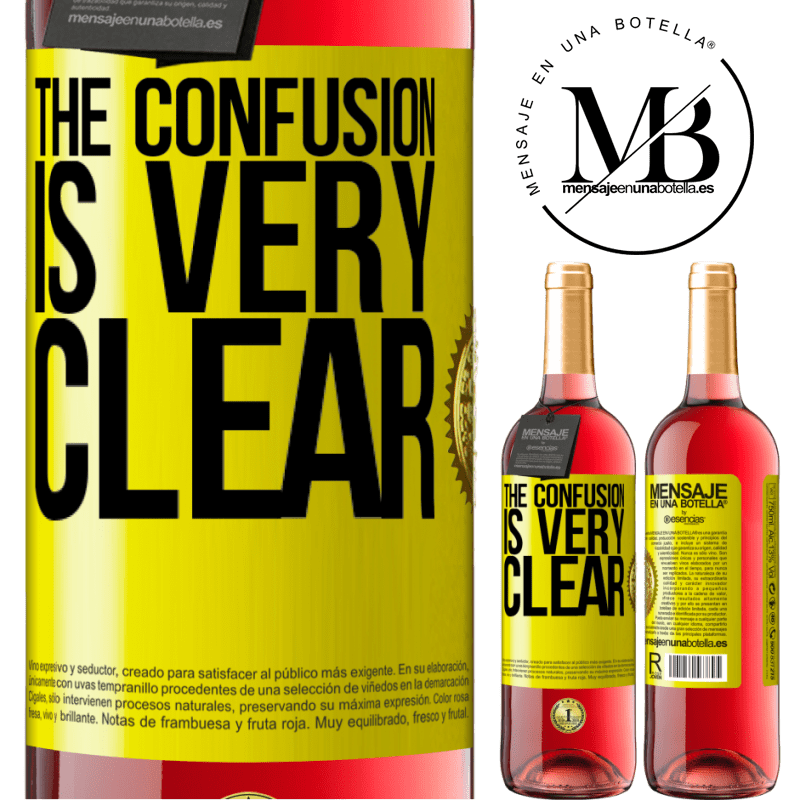 24,95 € Free Shipping | Rosé Wine ROSÉ Edition The confusion is very clear Yellow Label. Customizable label Young wine Harvest 2020 Tempranillo