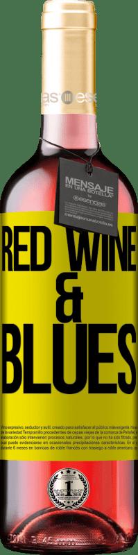 24,95 € Envoi gratuit | Vin rosé Édition ROSÉ Red wine & Blues Étiquette Jaune. Étiquette personnalisable Vin jeune Récolte 2020 Tempranillo