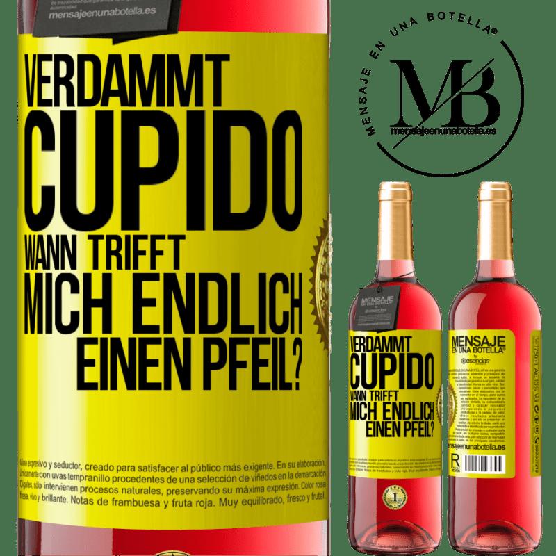 24,95 € Kostenloser Versand   Roséwein ROSÉ Ausgabe Amor Motherfucker, wann wird mein Schwarm? Gelbes Etikett. Anpassbares Etikett Junger Wein Ernte 2020 Tempranillo