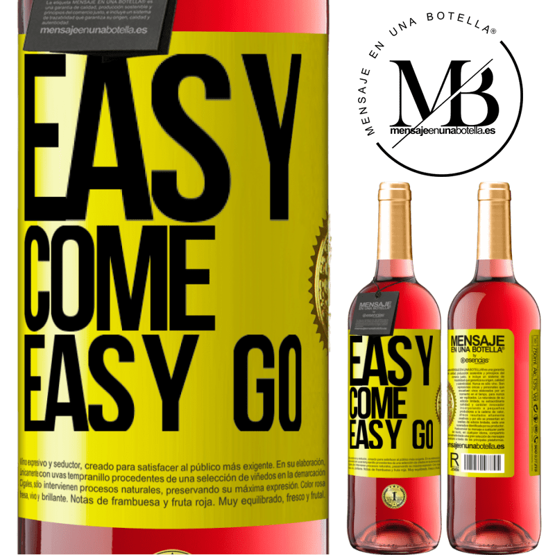 24,95 € Free Shipping   Rosé Wine ROSÉ Edition Easy come, easy go Yellow Label. Customizable label Young wine Harvest 2020 Tempranillo