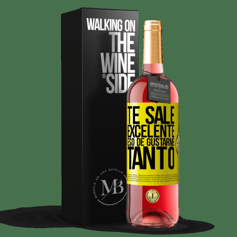 24,95 € Envoi gratuit | Vin rosé Édition ROSÉ Tu aimes tellement m'aimer tellement Étiquette Jaune. Étiquette personnalisable Vin jeune Récolte 2020 Tempranillo