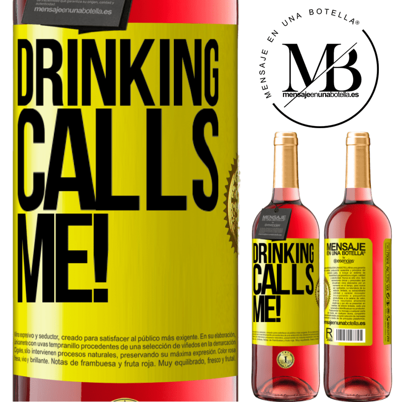 24,95 € Free Shipping | Rosé Wine ROSÉ Edition drinking calls me! Yellow Label. Customizable label Young wine Harvest 2020 Tempranillo