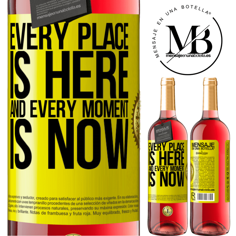 24,95 € Free Shipping | Rosé Wine ROSÉ Edition Every place is here and every moment is now Yellow Label. Customizable label Young wine Harvest 2020 Tempranillo