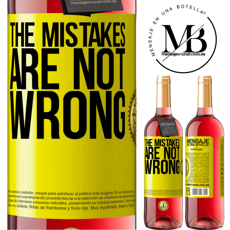 24,95 € Free Shipping   Rosé Wine ROSÉ Edition The mistakes are not wrong Yellow Label. Customizable label Young wine Harvest 2020 Tempranillo