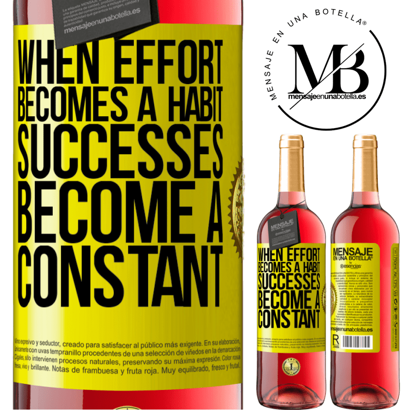 24,95 € Free Shipping   Rosé Wine ROSÉ Edition When effort becomes a habit, successes become a constant Yellow Label. Customizable label Young wine Harvest 2020 Tempranillo