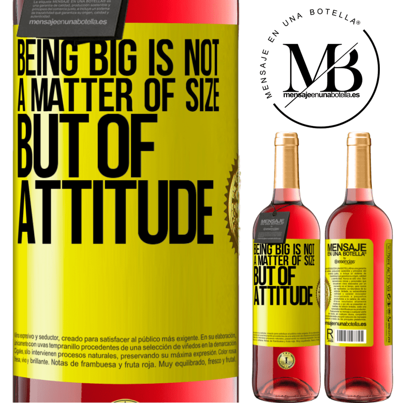 24,95 € Free Shipping | Rosé Wine ROSÉ Edition Being big is not a matter of size, but of attitude Yellow Label. Customizable label Young wine Harvest 2020 Tempranillo