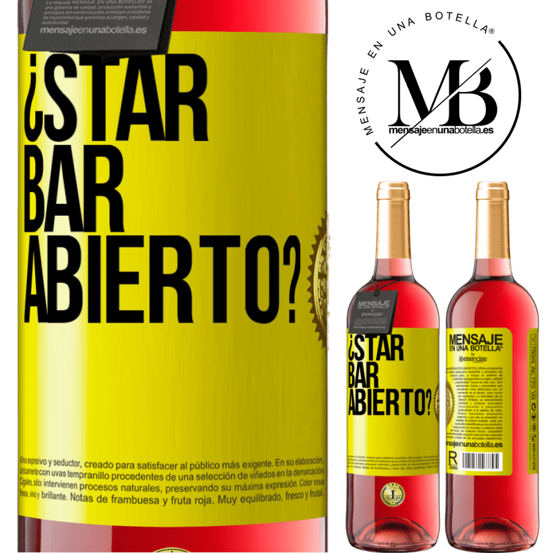 24,95 € Free Shipping | Rosé Wine ROSÉ Edition ¿STAR BAR abierto? Yellow Label. Customizable label Young wine Harvest 2020 Tempranillo