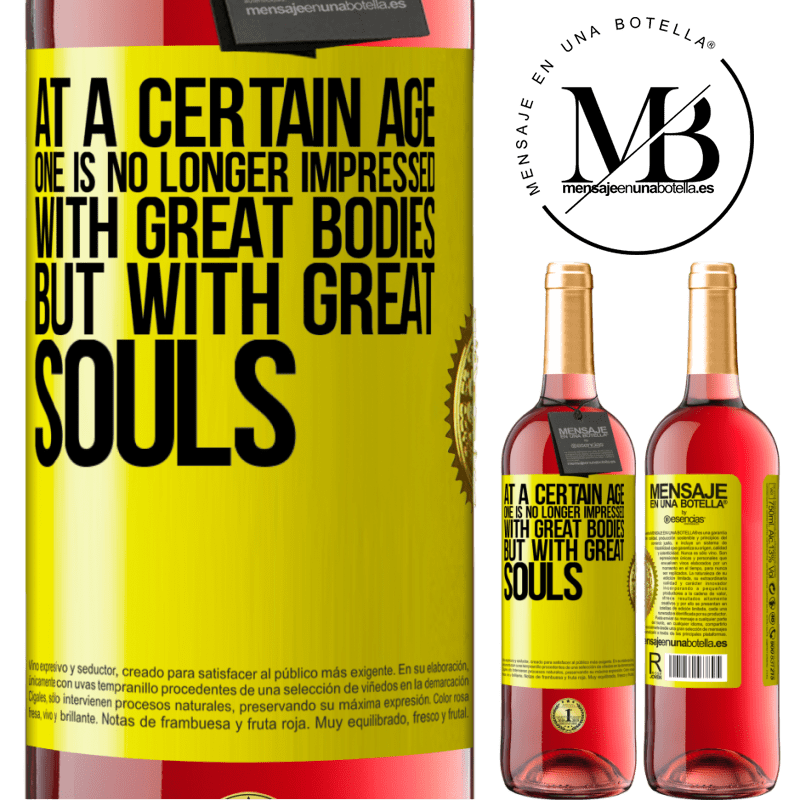 24,95 € Free Shipping   Rosé Wine ROSÉ Edition At a certain age one is no longer impressed with great bodies, but with great souls Yellow Label. Customizable label Young wine Harvest 2020 Tempranillo