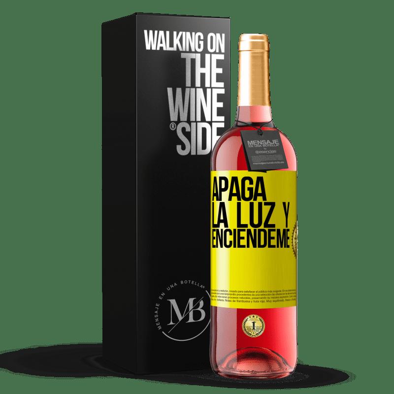 24,95 € Envoi gratuit   Vin rosé Édition ROSÉ Éteins la lumière et allume-moi Étiquette Jaune. Étiquette personnalisable Vin jeune Récolte 2020 Tempranillo