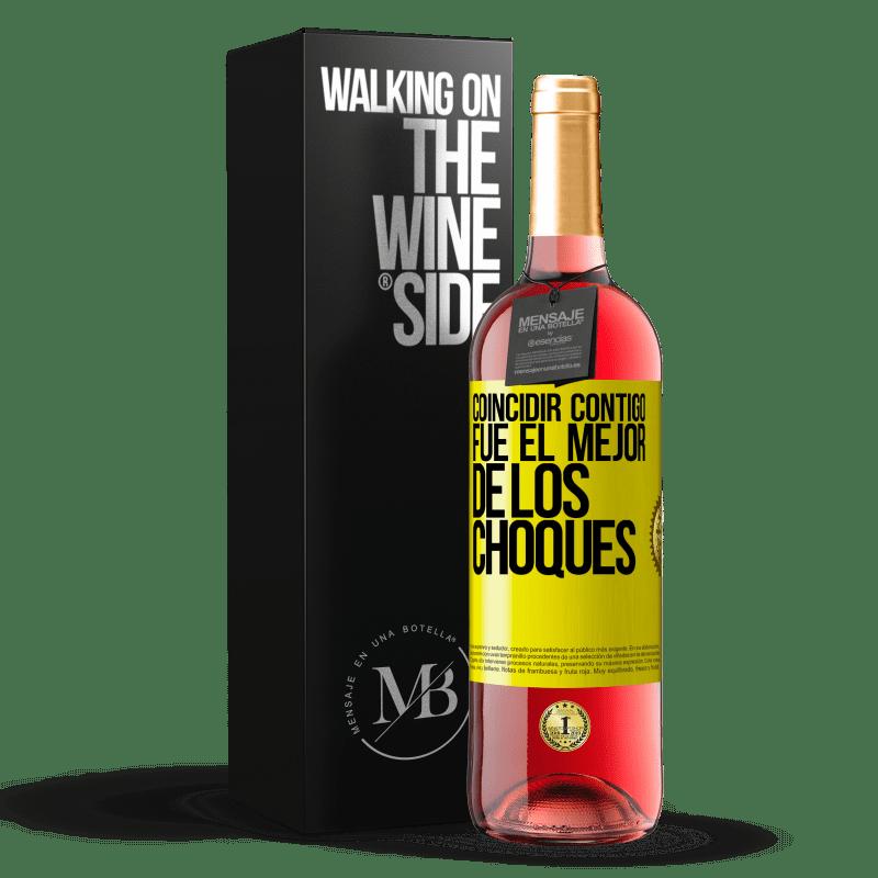 24,95 € Envoi gratuit   Vin rosé Édition ROSÉ Vous correspondre était le meilleur des accidents Étiquette Jaune. Étiquette personnalisable Vin jeune Récolte 2020 Tempranillo