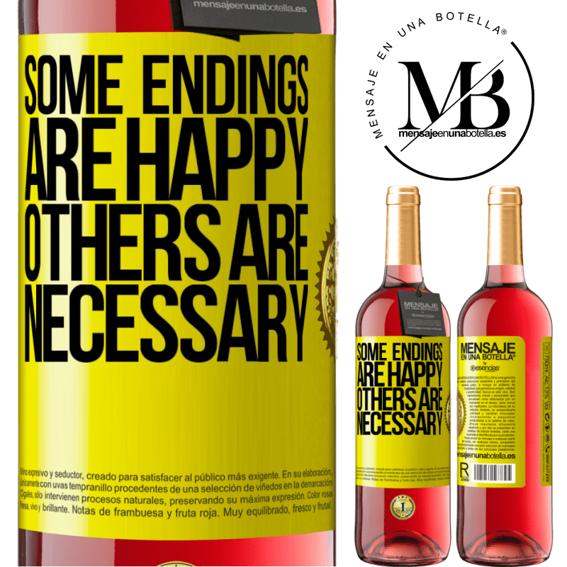 24,95 € Free Shipping | Rosé Wine ROSÉ Edition Some endings are happy. Others are necessary Yellow Label. Customizable label Young wine Harvest 2020 Tempranillo