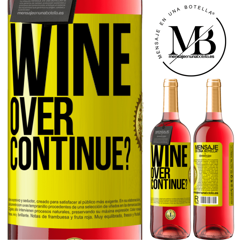24,95 € Free Shipping   Rosé Wine ROSÉ Edition Wine over. Continue? Yellow Label. Customizable label Young wine Harvest 2020 Tempranillo