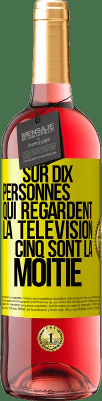 24,95 € Envoi gratuit | Vin rosé Édition ROSÉ Sur dix personnes qui regardent la télévision, cinq sont la moitié Étiquette Jaune. Étiquette personnalisable Vin jeune Récolte 2020 Tempranillo