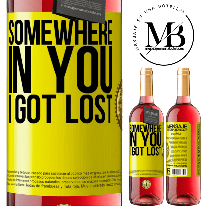 24,95 € Free Shipping   Rosé Wine ROSÉ Edition Somewhere in you I got lost Yellow Label. Customizable label Young wine Harvest 2020 Tempranillo