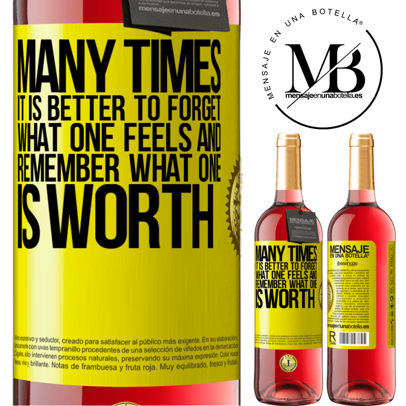 24,95 € Free Shipping | Rosé Wine ROSÉ Edition Many times it is better to forget what one feels and remember what one is worth Yellow Label. Customizable label Young wine Harvest 2020 Tempranillo