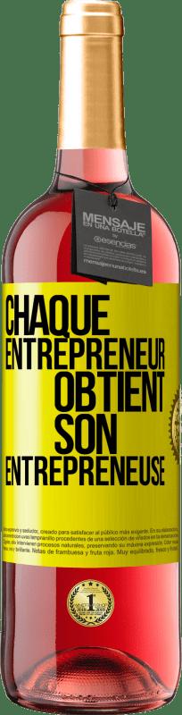 24,95 € Envoi gratuit   Vin rosé Édition ROSÉ Chaque entrepreneur obtient son entrepreneur Étiquette Jaune. Étiquette personnalisable Vin jeune Récolte 2020 Tempranillo