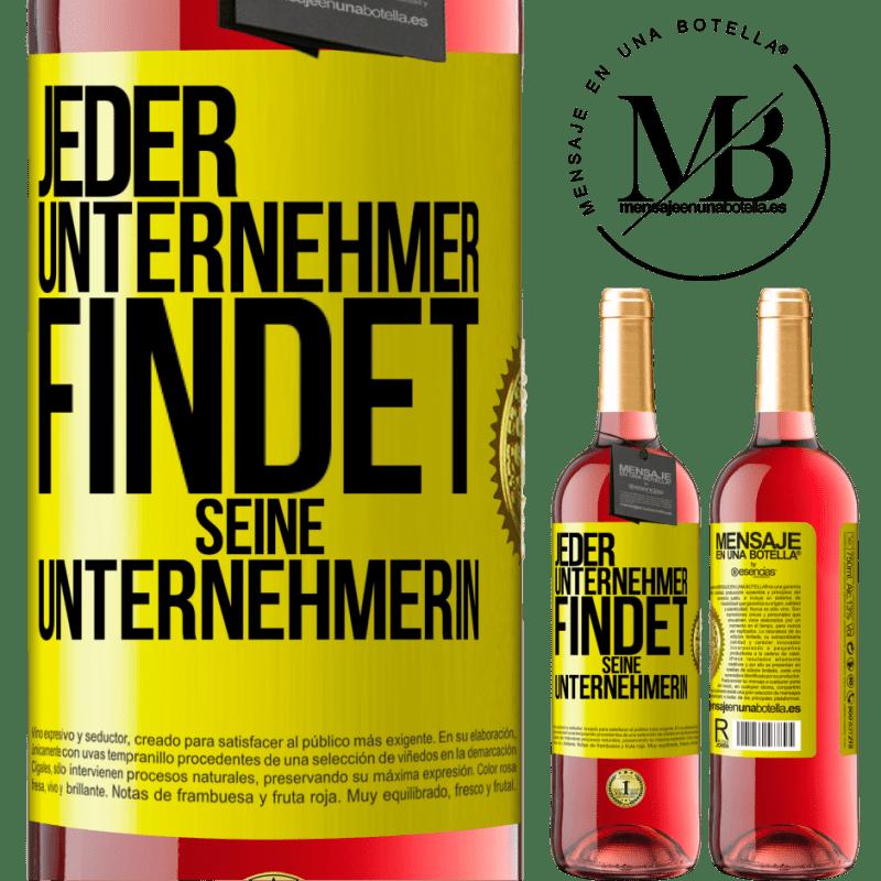 24,95 € Kostenloser Versand | Roséwein ROSÉ Ausgabe Jeder Unternehmer bekommt seinen Unternehmer Gelbes Etikett. Anpassbares Etikett Junger Wein Ernte 2020 Tempranillo
