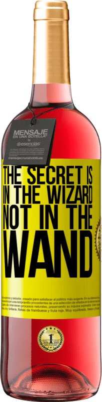 24,95 € Free Shipping | Rosé Wine ROSÉ Edition The secret is in the wizard, not in the wand Yellow Label. Customizable label Young wine Harvest 2020 Tempranillo