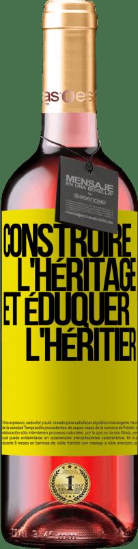 24,95 € Envoi gratuit | Vin rosé Édition ROSÉ Construire l'héritage et éduquer l'héritier Étiquette Jaune. Étiquette personnalisable Vin jeune Récolte 2020 Tempranillo