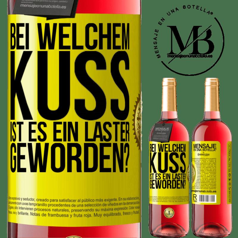 24,95 € Kostenloser Versand   Roséwein ROSÉ Ausgabe welcher Kuss sind wir Laster geworden? Gelbes Etikett. Anpassbares Etikett Junger Wein Ernte 2020 Tempranillo