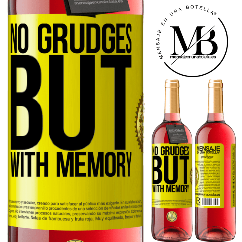 24,95 € Free Shipping | Rosé Wine ROSÉ Edition No grudges, but with memory Yellow Label. Customizable label Young wine Harvest 2020 Tempranillo