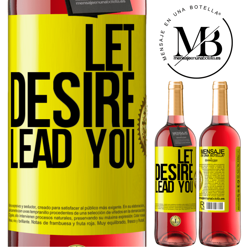 24,95 € Free Shipping | Rosé Wine ROSÉ Edition Let desire lead you Yellow Label. Customizable label Young wine Harvest 2020 Tempranillo