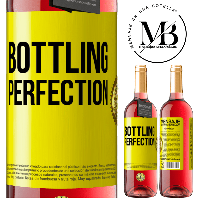24,95 € Free Shipping | Rosé Wine ROSÉ Edition Bottling perfection Yellow Label. Customizable label Young wine Harvest 2020 Tempranillo
