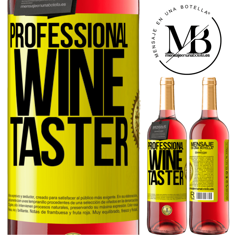 24,95 € Free Shipping   Rosé Wine ROSÉ Edition Professional wine taster Yellow Label. Customizable label Young wine Harvest 2020 Tempranillo