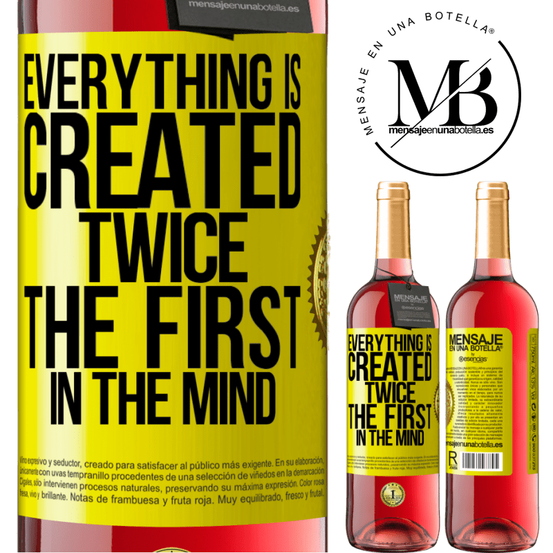 24,95 € Free Shipping | Rosé Wine ROSÉ Edition Everything is created twice. The first in the mind Yellow Label. Customizable label Young wine Harvest 2020 Tempranillo