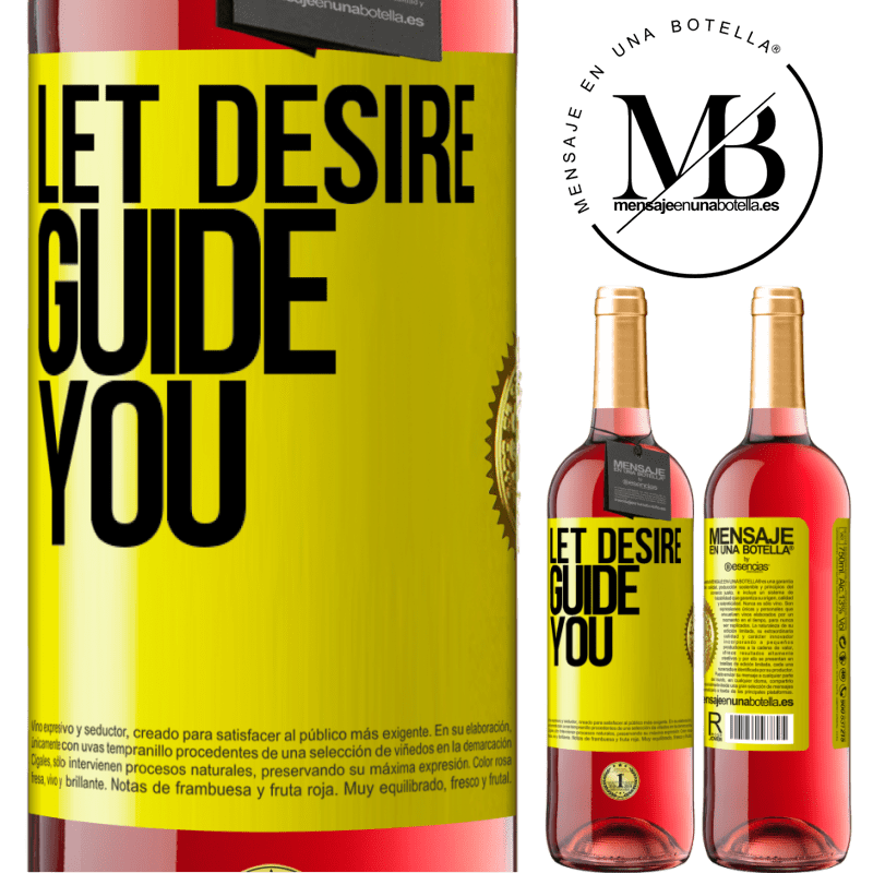 24,95 € Free Shipping   Rosé Wine ROSÉ Edition Let desire guide you Yellow Label. Customizable label Young wine Harvest 2020 Tempranillo