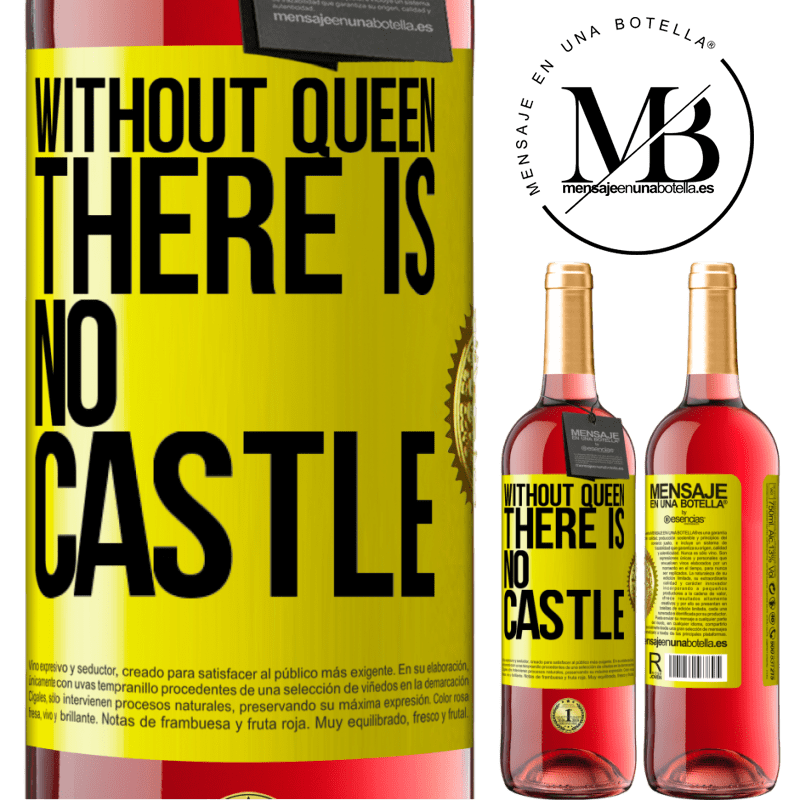 24,95 € Free Shipping | Rosé Wine ROSÉ Edition Without queen, there is no castle Yellow Label. Customizable label Young wine Harvest 2020 Tempranillo