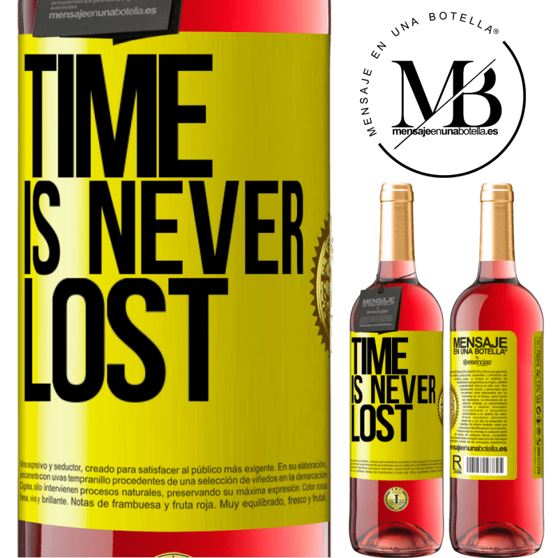 24,95 € Free Shipping | Rosé Wine ROSÉ Edition Time is never lost Yellow Label. Customizable label Young wine Harvest 2020 Tempranillo
