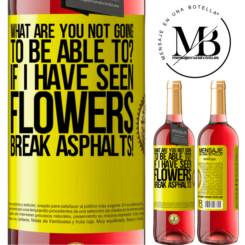 24,95 € Free Shipping | Rosé Wine ROSÉ Edition what are you not going to be able to? If I have seen flowers break asphalts! Yellow Label. Customizable label Young wine Harvest 2020 Tempranillo