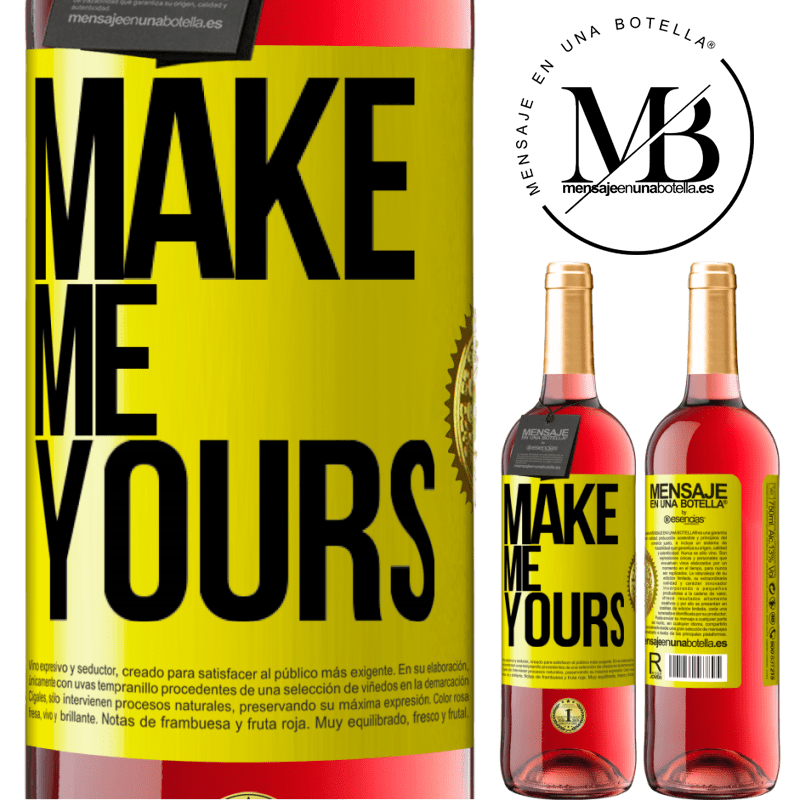 24,95 € Free Shipping   Rosé Wine ROSÉ Edition Make me yours Yellow Label. Customizable label Young wine Harvest 2020 Tempranillo