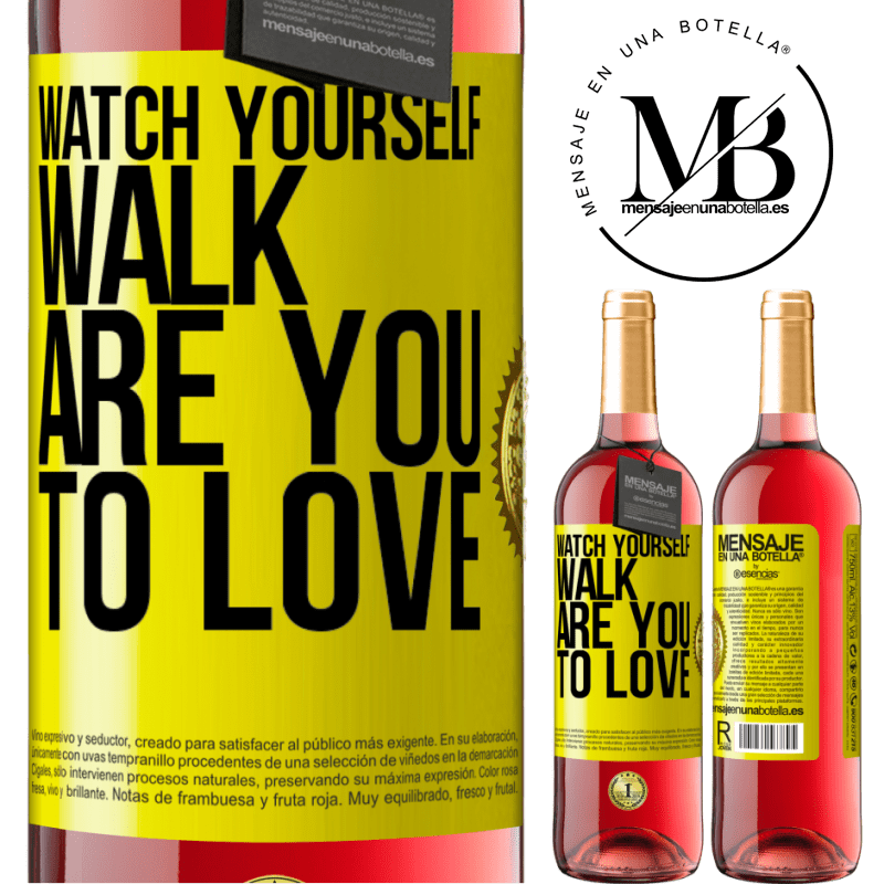 24,95 € Free Shipping   Rosé Wine ROSÉ Edition Watch yourself walk. Are you to love Yellow Label. Customizable label Young wine Harvest 2020 Tempranillo