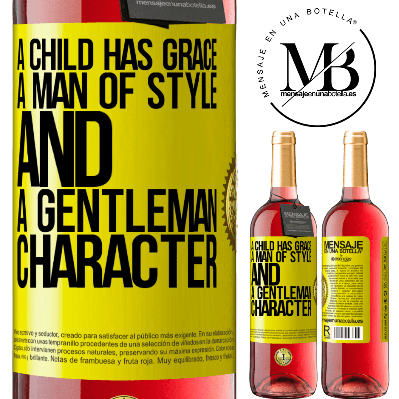 24,95 € Free Shipping | Rosé Wine ROSÉ Edition A child has grace, a man of style and a gentleman, character Yellow Label. Customizable label Young wine Harvest 2020 Tempranillo