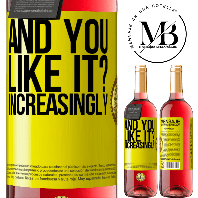 24,95 € Free Shipping   Rosé Wine ROSÉ Edition and you like it? Increasingly Yellow Label. Customizable label Young wine Harvest 2020 Tempranillo