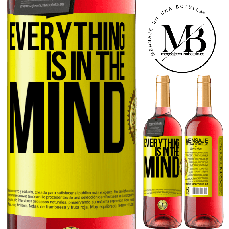 24,95 € Free Shipping | Rosé Wine ROSÉ Edition Everything is in the mind Yellow Label. Customizable label Young wine Harvest 2020 Tempranillo