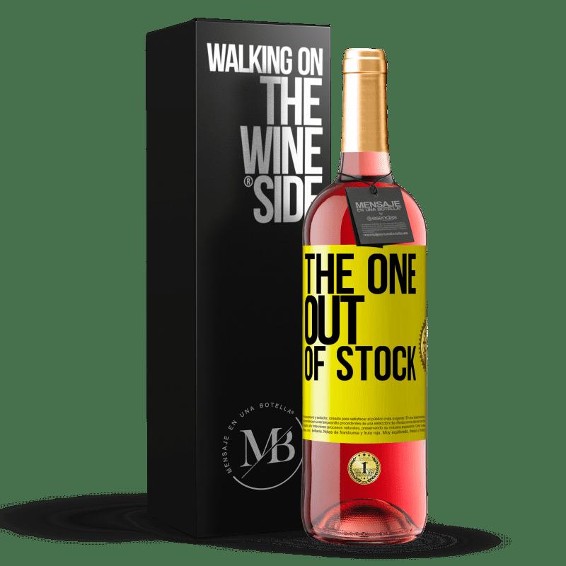 24,95 € Envoi gratuit | Vin rosé Édition ROSÉ The one out of stock Étiquette Jaune. Étiquette personnalisable Vin jeune Récolte 2020 Tempranillo